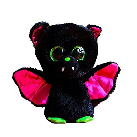 thitiwat Original Ty Beanie Boos Big Eyes Plush Toy Doll Colorful Rabbit Baby Kids Gift Bat 15 cm/Black/Green/Pink,Bat doll