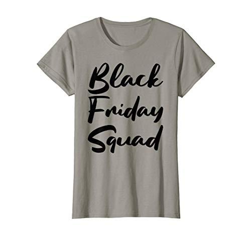 Womens Cute Black Friday Squad Family Shopping 2019 Deals Womens T-Shirt