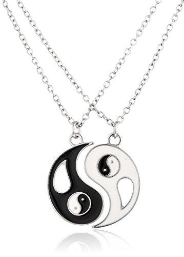 Silvertone Yin Yang 2 Piece Friendship N