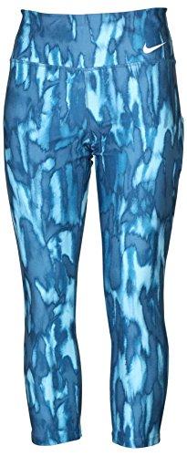 NIKE Women's Dri-Fit Power Legend Training Crop Pants-Blue-Medium