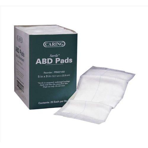 Medline Caring Non-Sterile Abdominal Pads, 5 in x 9 in (576/cs)