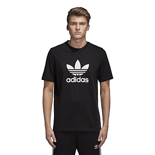 f6b28fe5c7c82 adidas Originals Men's Trefoil Tee Shirt, Black,X-Large
