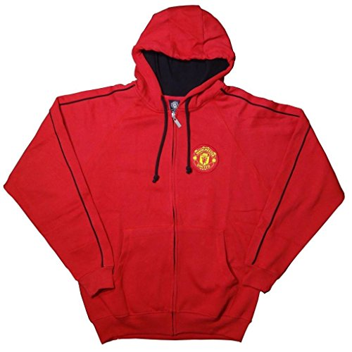 Soccer Ball Fleece Beanie - Manchester United FC Soccer Zip Front Fleece Jacket Sweatshirt Official License Soccer Hoodie Small 004