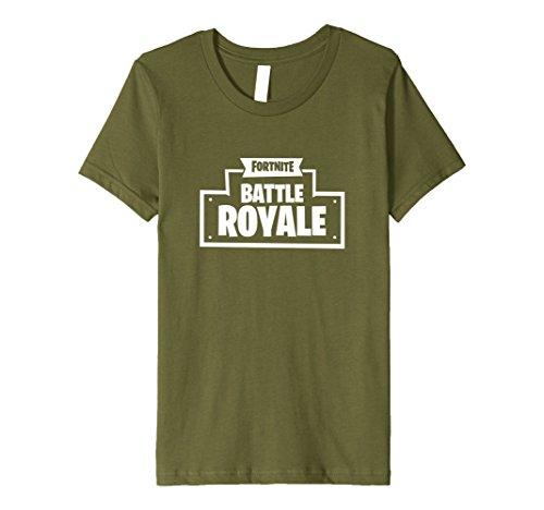 Kids Fortnite Battle Royale Logo T-Shirt 12 Olive