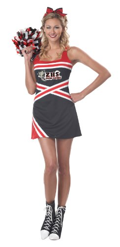 California Costumes Women's Classic Cheerleader Adult, Red/Black/White, X-Small