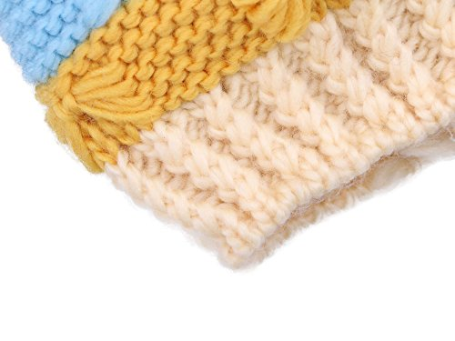 Younglove Boys/Girls Hat Kids and Toddlers' Diamond Cable Knit Beanie, Cream Stripes by YoungLove (Image #4)