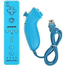 Andoer Wired Nunchuck and Remote Controller with Motion Plus for Nintendo Wii With Retail Package (B
