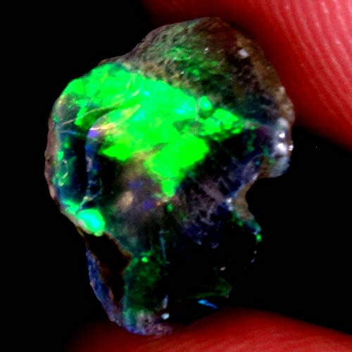 GEMSCREATIONS 03.25Ct Natural Ethiopian Welo Opal Rough Rare Rainbow Flashy Gemstones