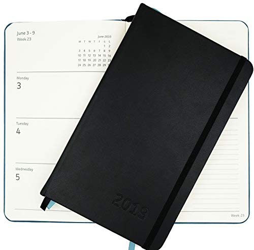 2019 Planner – Yearly, Weekly, Monthly & Daily Planner Organizer with Calendar (Black) | Plan Your Life, Keep Appointments, Achieve Your Goals