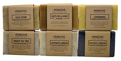 (SIMPLICI Herbal Soap (6 Bar) Value)
