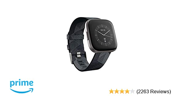 Fitbit Versa 2 Special Edition Health & Fitness Smartwatch with Heart Rate, Music, Alexa Built-in, Sleep & Swim Tracking, Smoke Woven/Mist Grey, One ...