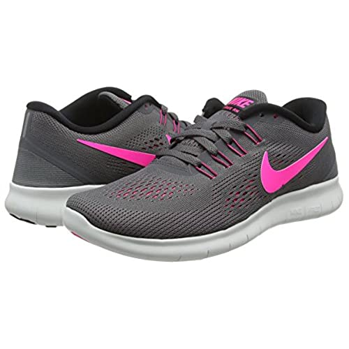 04ef57b5684c Nike Free RN Dark Grey Pink Blast Black Cool Gray Women s Running Shoes