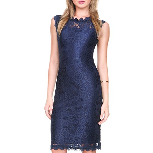 Stanzino Cocktail Dress /Women's Sleeveless Lace Dresses for Special Occasions,Navy,X-Large