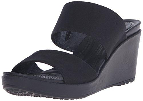 crocs Damen Leigh Ii 2 Clogs Black (Schwarz)