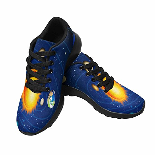 InterestPrint Womens Casual Soft Sports Road Running Walking Shoes Solar System Multi 1 eZxcjX5C