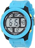 Armitron Men's 40/8253TRQ Large Round Turquoise Resin Digital Chronograph Watch, Watch Central