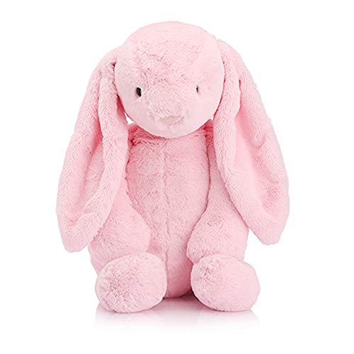 GUIIFAN Rabbit Stuffed Animal Plush ,Soft Comfort Stuffed Toy for Baby and Kids 8 Inch ,Pink]()
