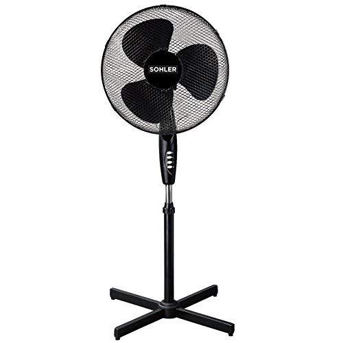 Sohler 216598 Black 16' Standing Pedestal Stand Fan Adjustable Oscillating...