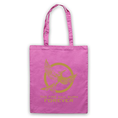 Bag Will Fire Mockingjay Hunger Burn 2 Tote Pink Forever The Games qgwF7Hx