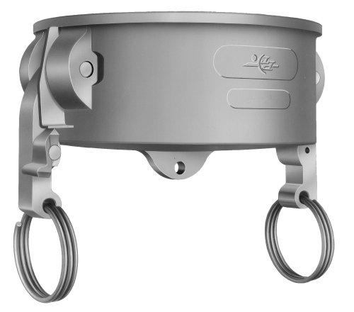 PT Coupling STA-Lok 2 Series Aluminum Passive Locking Cam and Groove Hose Fitting, V-Dust Cap, Stainless Steel 316 (SLS) Cam Arms, (Series Aluminum Cam)