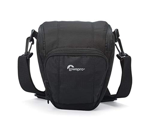 Lowepro Toploader Zoom 45 AW II Camera Case for DSLR and Lens, Black (Best Quick Access Camera Bag)