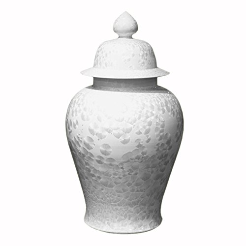Decorative Chinese Crystal Shell Temple Jar Storage Container Large ()
