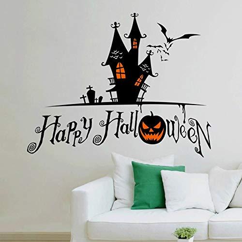 (3d Horror - Halloween Wallpaper Sticker Vintage Home Decor Living Room Kids House Decoration Adesivo De Parede - Moon Pineapple World Jellyfish Dinosaur Relax Quotes Balloons Jesus Indian)