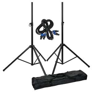 Pronomic Add on Package - Juego de soportes para altavoces (2 unidades, incluye cable y bolsa)