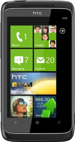 HTC 7 Trophy T8686 Windows Phone 7 Unlocked GSM Smartphone with Touchscreen, 5 MP Camera, Wi-Fi and GPS - Unlocked Phone - No Warranty - Black