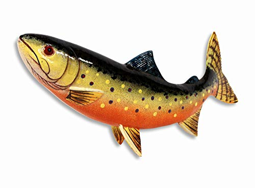 (LX Handpainted Brown Brook Trout Statue Game Fish Replica 10