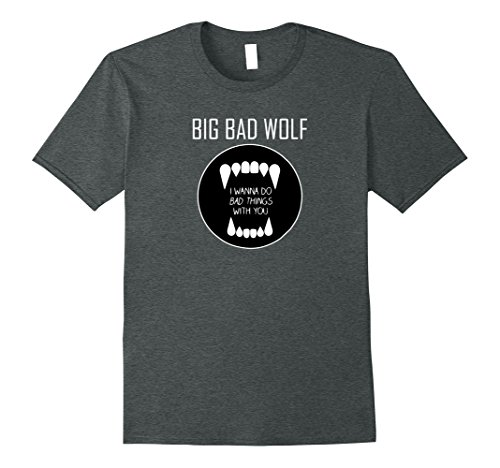 Mens Big Bad Wolf Dating Popular Halloween Costume Idea XL Dark Heather