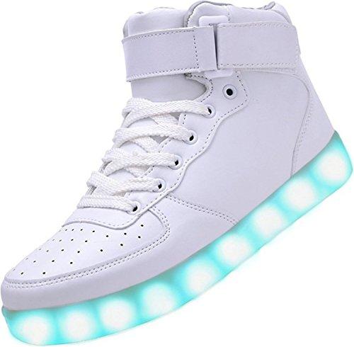 [Presente:pequeña toalla]c23 EU 37, Zapatillas Multicolor Chicos manera LED