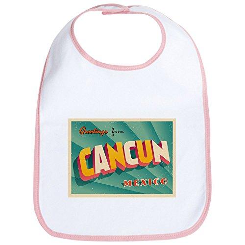 CafePress Vintage Touristic Greeting Card - Cancun, Me - Cute Cloth Baby Bib, Toddler Bib