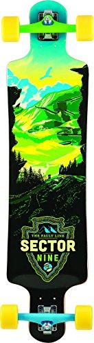 Sector 9 Faultline Complete Skateboard, Green