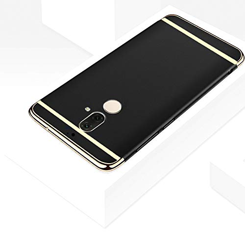 quality design 4b325 c913d TheGiftKart Nokia 7 Plus Back Case Cover: Electroplated Luxury 3-in-1 Slim  Fit 360* Protection Hybrid Hard Bumper (Black & Golden) (Launch Offer)