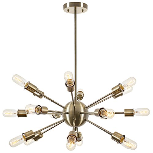 light society lsc115brs sputnik style chandelier brass - Starburst Chandelier