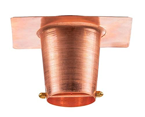 Marrgon Copper Gutter Installer with Rain Chain Hanger Clip for Decorative Chimes, Cups & Bells Serves as 4.25 Inch Adapter for Downspout Outlet & Water Diverter for Gorgeous Fountain Display ()