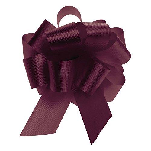 Burgundy Flora-Satin Pull Bow 5.5