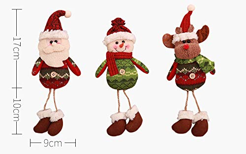 3pcs/lot New Year Party Christmas Decorations Hanging Legs Old Man Snowman Cloth Doll Window Decoration Christmas Children's Gift AB312