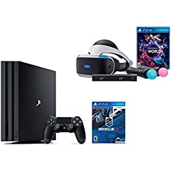 PlayStation VR Launch Bundle 3 Items:VR Launch Bundle,PlayStation 4 Pro 1TB,VR Game Disc PSVR DriveClub