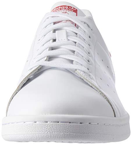 adidas mens Stan Smith fashion sneakers, Multicolore - Mehrfarbig (Runwht/Runwht/Colred), 5.5 US