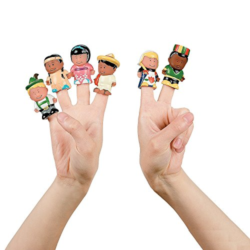 Dozen Kids Around the World Finger Puppets (Puppets People Finger)