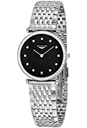 Longines La Grande Classique Black Dial Stainless Steel Ladies Watch L4.513.0.58.6
