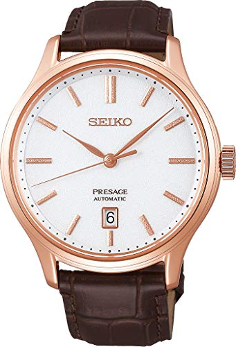 Seiko presage Mens Analog Automatic Watch with Leather Bracelet SRPD42J1