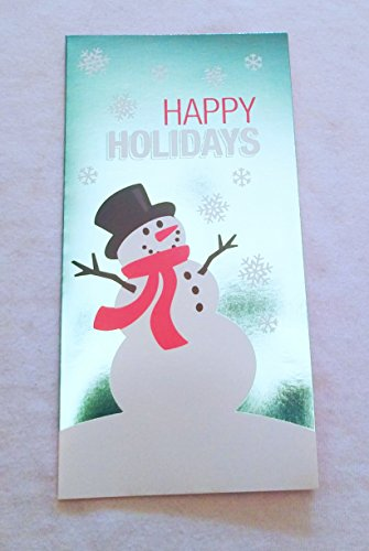 Christmas Money or Gift Card Holder Cards - Set of 8 with Metallic/Glitter Accents (Happy Holidays)