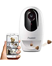 Pawbo+ Interactive Wireless Pet Camera - HD WiFi Dog Camera with Laser Toy Cat Game - Treat Dispenser and Two Way-Talk Remotely via Pawbo Life APP - Image Sharing on Instagram