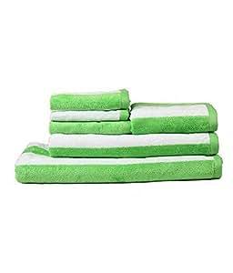 Trident Green Cabana 6 Pcs Towel Set