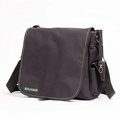 Solhaus Mens Diaper Bag, Messenger bag For Dads with Wipes Pocket, Stroller Straps,