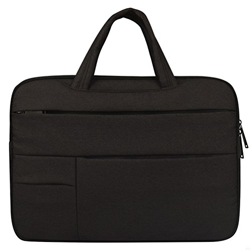 Laptop Carrying Sleeve with Hand StrapNotebook Protective CaseDurable Accessories Handbag 13.3inch Waterproof Shockproof Tablet Cover Bag for Apple Macbook Pro/Lenovo/Asus/Acer Black AO60