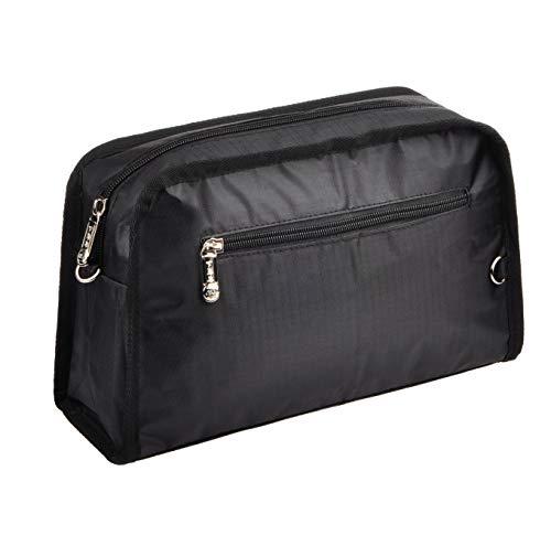 Vercord Sturdy Multi-Pocket Insert Handbag Bag Organizer Water-resistant Large Zipper Bag in Bag Black